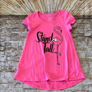 Justice flamingo hot pink tunic 6/7